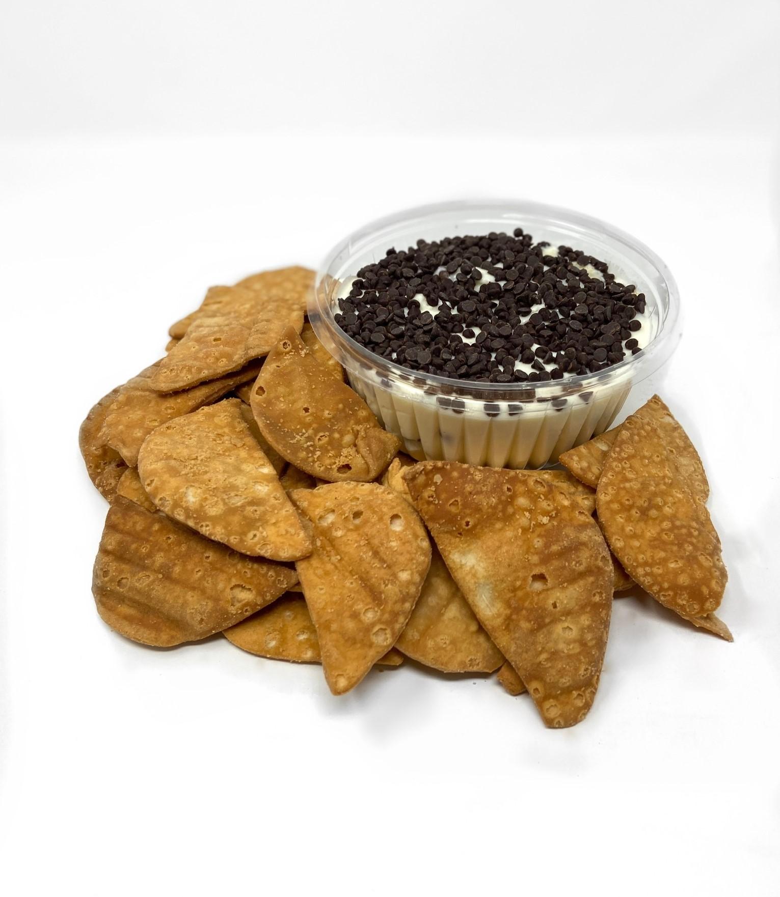 Cannoli Cream Bowl with Cannoli Chips