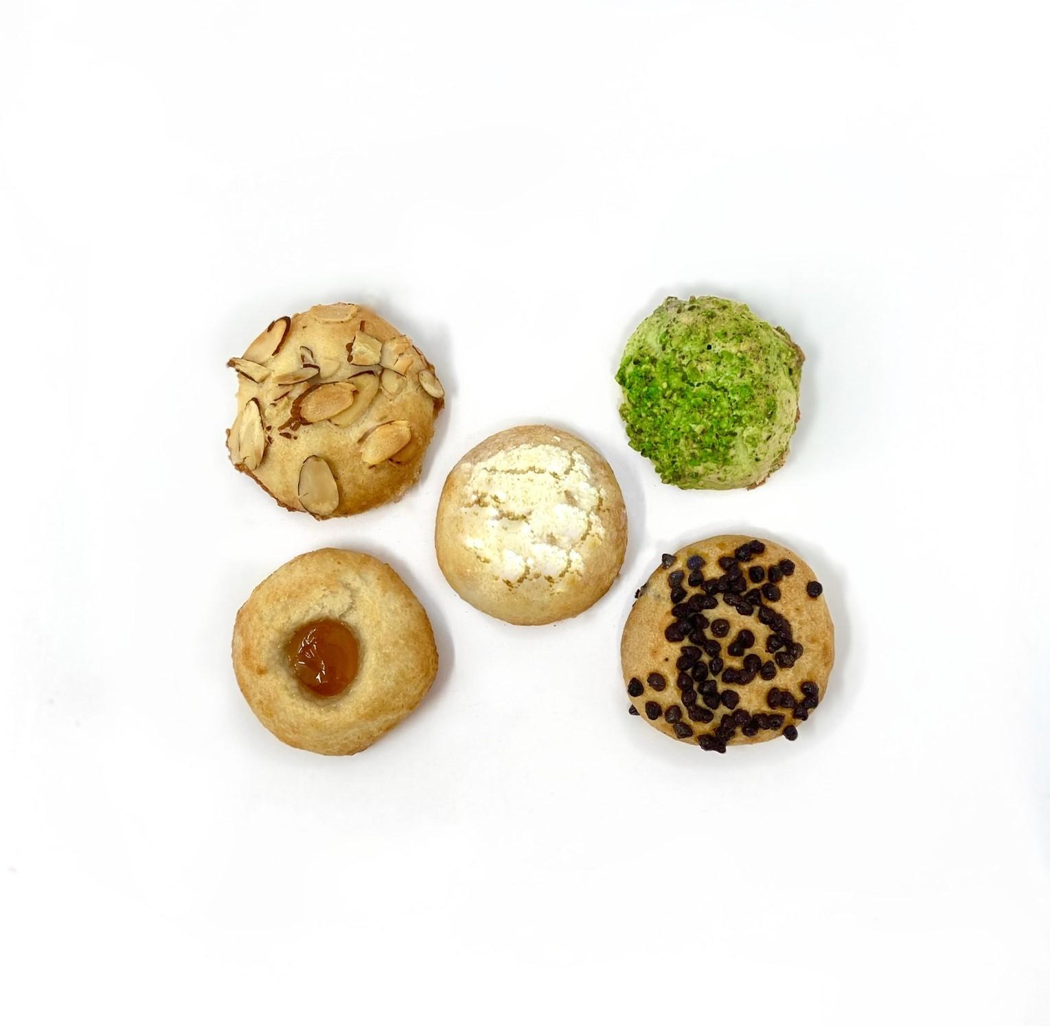 Dream Cookies C40, C41, C42, C43, C44 Almond, Pistachio, Lemon, Apricot, Nocciolata